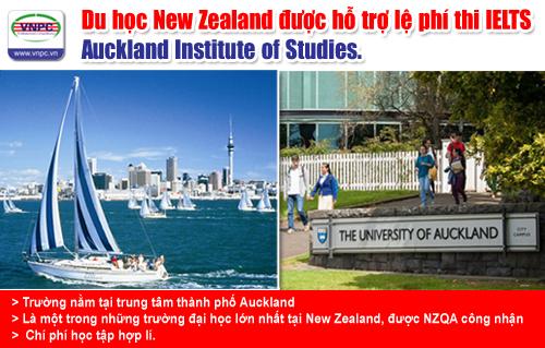 Du học New Zealand được hỗ trợ lệ phí thi IELTS – Auckland Institute of Studies.