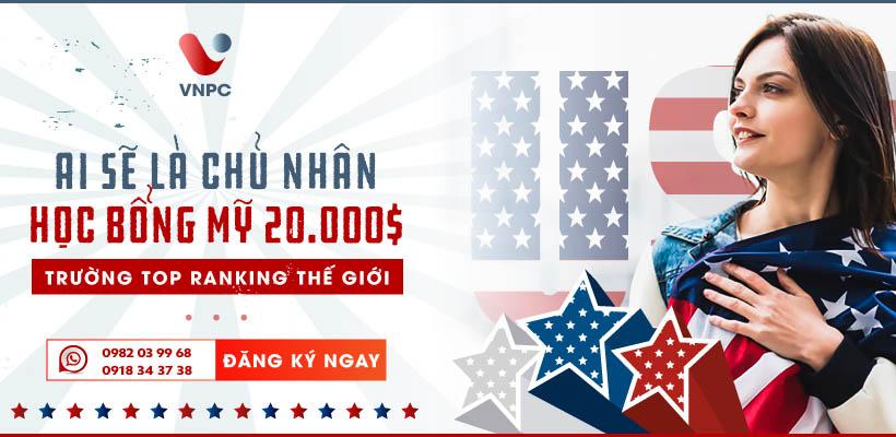 Ai sẽ là chủ nhân học bổng Mỹ $20000 trường top Ranking thế giới
