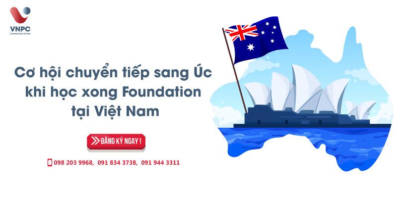 Cơ hội chuyển tiếp sang Úc khi học xong Foundation tại Việt Nam