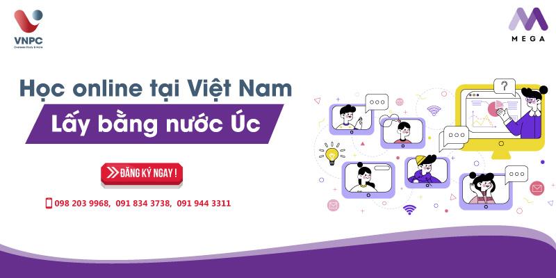 Học online tại Việt Nam lấy bằng nước Úc