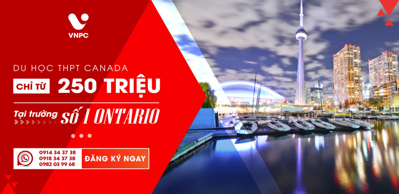 Du học THPT Canada tại trường THPT số 1 Ontario chỉ từ 250 triệu/Năm