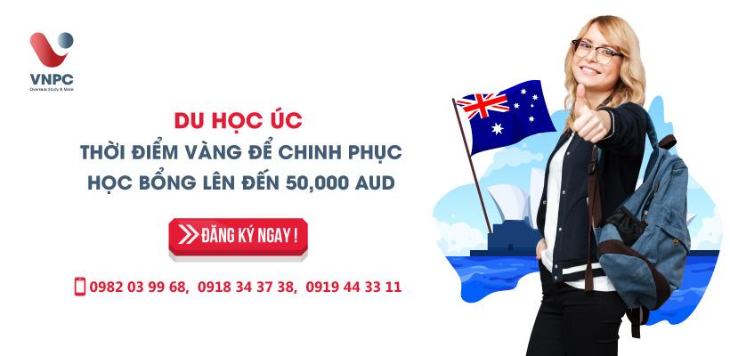 Du học Úc thời điểm vàng để chinh phục học bổng lên đến 50.000 AUD