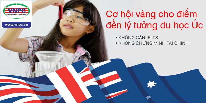 Cơ hội vàng cho điểm đến lý tưởng du học Úc không IELTS, không chứng minh tài chính