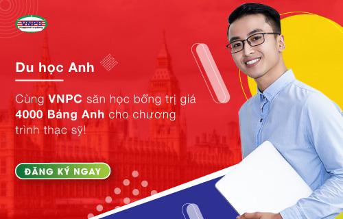 Cùng VNPC săn học bổng trị giá 4000 Bảng Anh cho chương trình thạc sỹ!