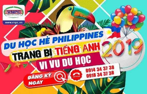 Du học hè Philippines 2019 - Trang bị tiếng Anh - Vi vu du học
