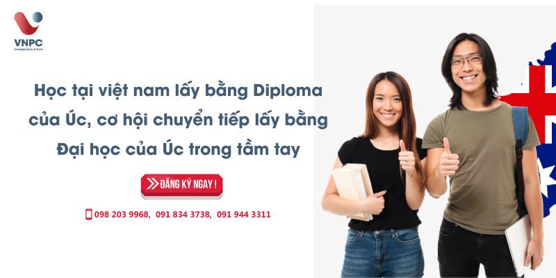 Học tại Việt Nam lấy bằng Diploma của Úc, cơ hội chuyển tiếp lấy bằng Đại học của Úc trong tầm tay