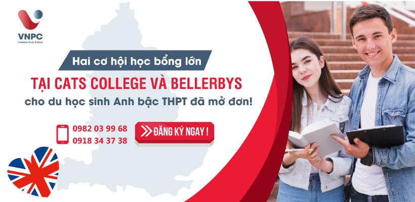 Hai cơ hội học bổng lớn tại CATS College và Bellerbys cho du học sinh Anh bậc THPT đã mở đơn!