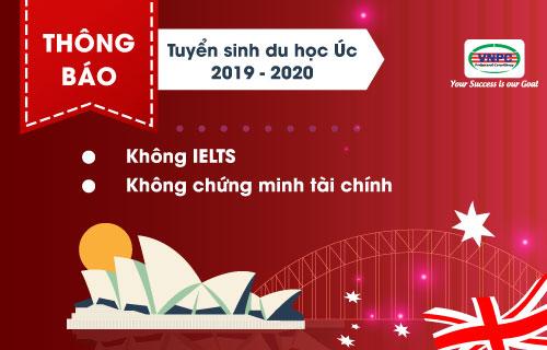 Thông báo tuyển sinh du học Úc không IELTS, không chứng minh tài chính 2019 – 2020