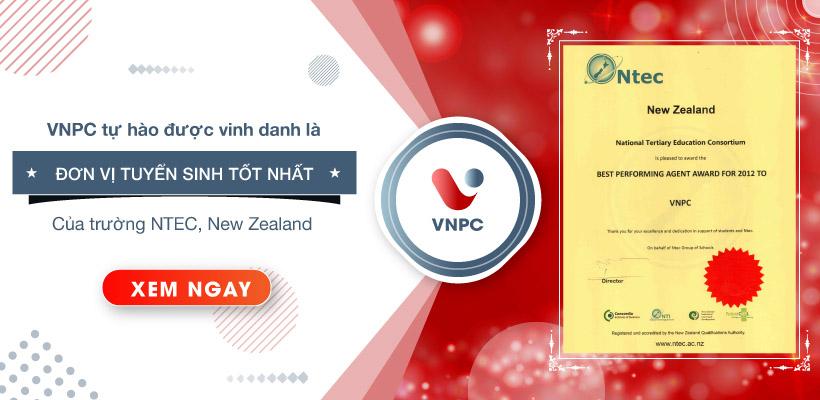 VNPC tự hào là đơn vị tuyển sinh tốt nhất của trường NTEC, New Zealand