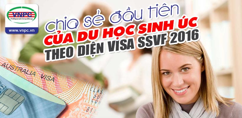 Chia sẻ đầu tiên của du học sinh Úc theo diện Visa SSVF 2016