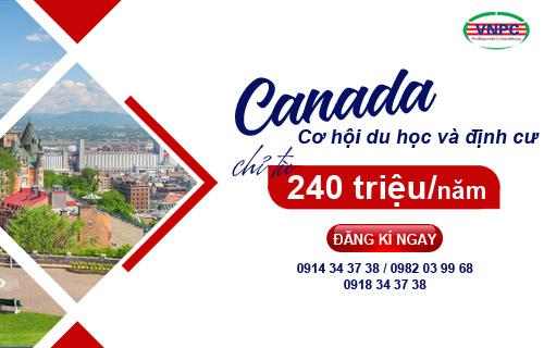 Cơ hội du học và định cư Canada với chi phí chỉ từ 240 triệu/năm