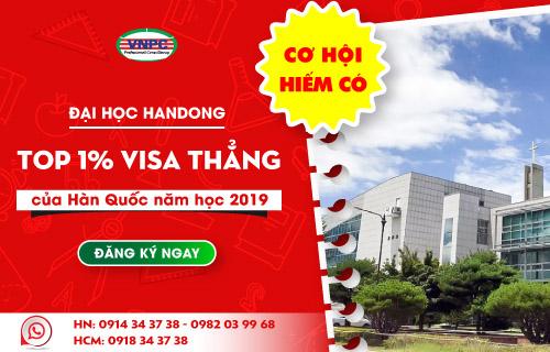 Cơ hội hiếm có: Du học đại học Handong top 1% Visa thẳng của Hàn Quốc năm học 2019
