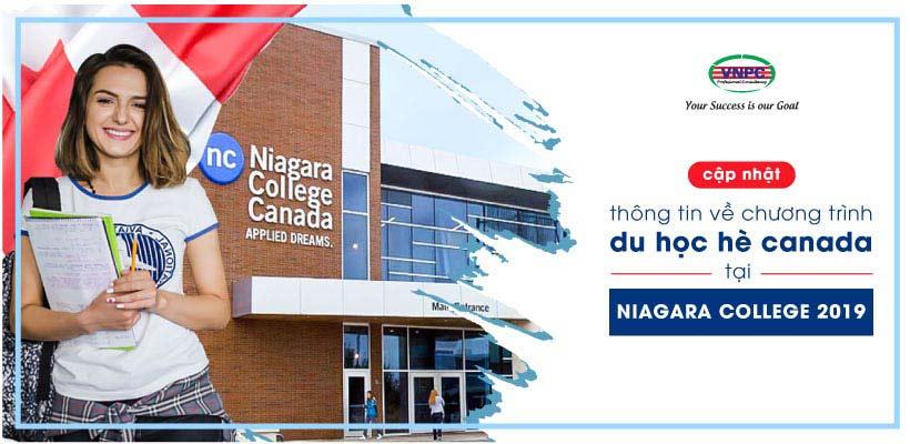 Cập nhật thông tin về chương trình du học hè Canada tại Niagara College 2019