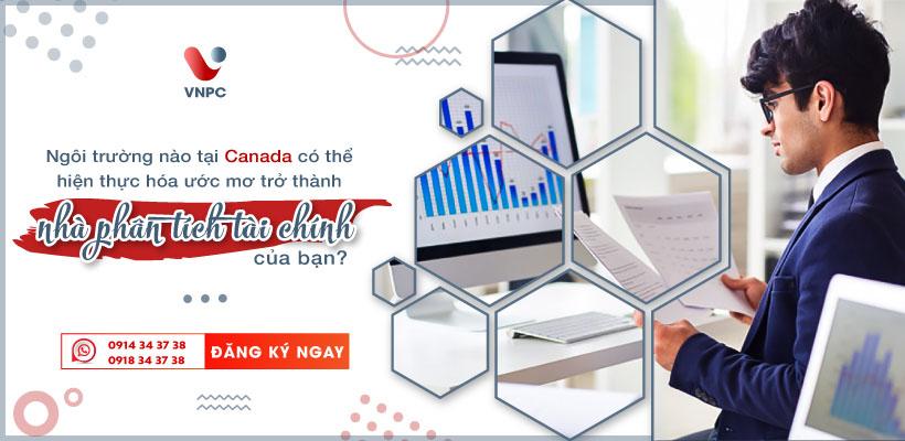 Du học Canada ngành phân tích tài chính