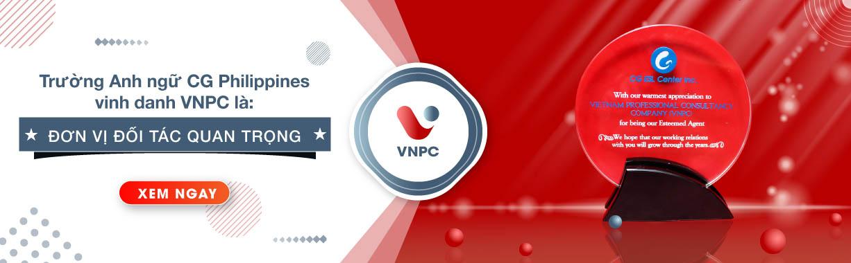 Trường Anh ngữ CG Philippines vinh danh VNPC là đơn vị đối tác quan trọng năm 2019