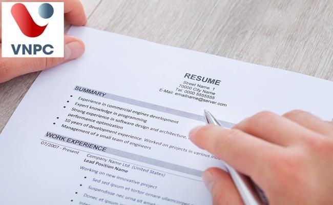 7 lời khuyên viết 1 CV xin việc đúng chuẩn