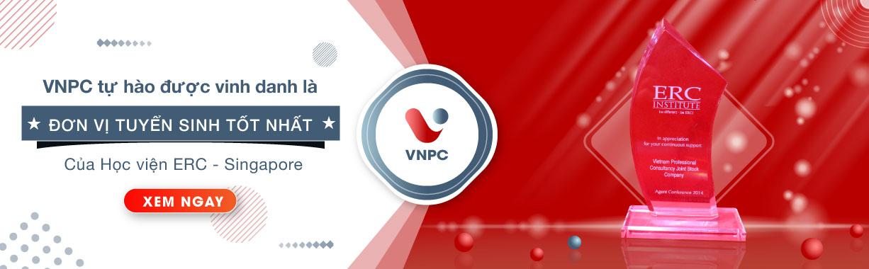 VNPC được vinh danh là đơn vị tuyển sinh tốt nhất của ERC Singapore 2019!