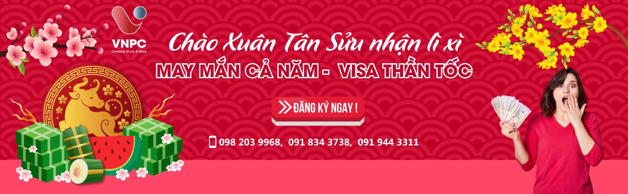 """Chào xuân Tân Sửu nhận lì xì """" May mắn cả năm - Visa thần tốc"""" 2021"""