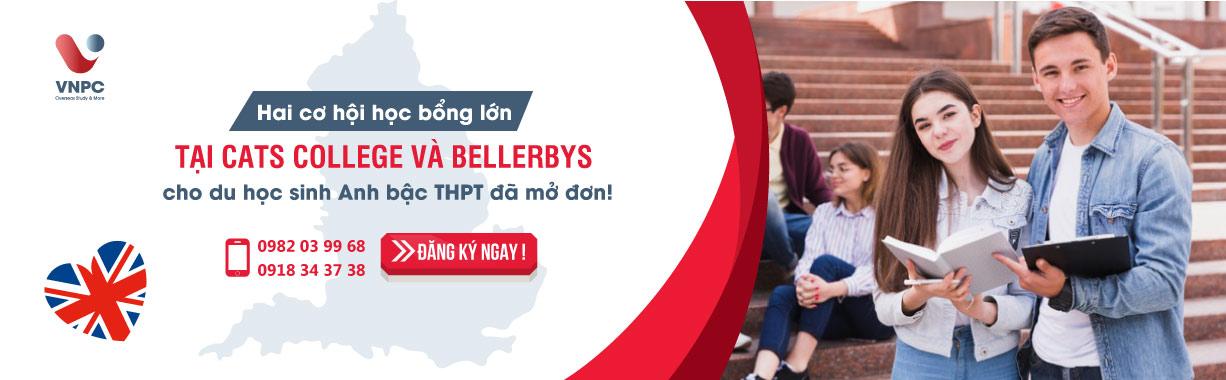 Hai cơ hội học bổng lớn tại CATS College và Bellerbys cho du học sinh Anh bậc THPT đã mở đơn tháng 3!