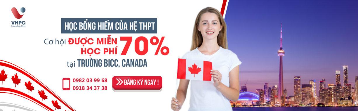 Học bổng hiếm của hệ THPT năm 2020: Cơ hội được miễn 70% học phí tại trường BICC, Canada